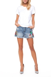 Dex Embroidered Denim Shorts - Product Mini Image