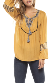 Dex Embroidered Peasant Blouse - Product Mini Image
