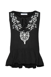 Dex Embroidered Peplum Tank - Product Mini Image