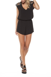 Dex Embroidered Shoulder Romper - Product Mini Image