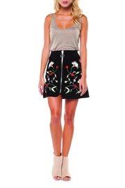Dex Embroidered Zipper Skirt - Product Mini Image