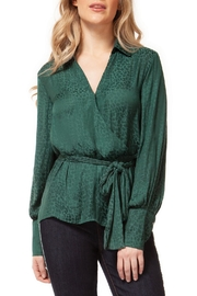 Dex Emerald Leopard Blouse - Product Mini Image