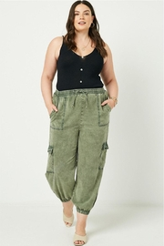 Dex Faded Green Joggers - Front cropped