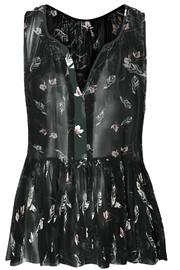 Dex Feather Print Blouse - Product Mini Image
