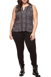 Dex Floral Embroidered Beaded Top - Product Mini Image