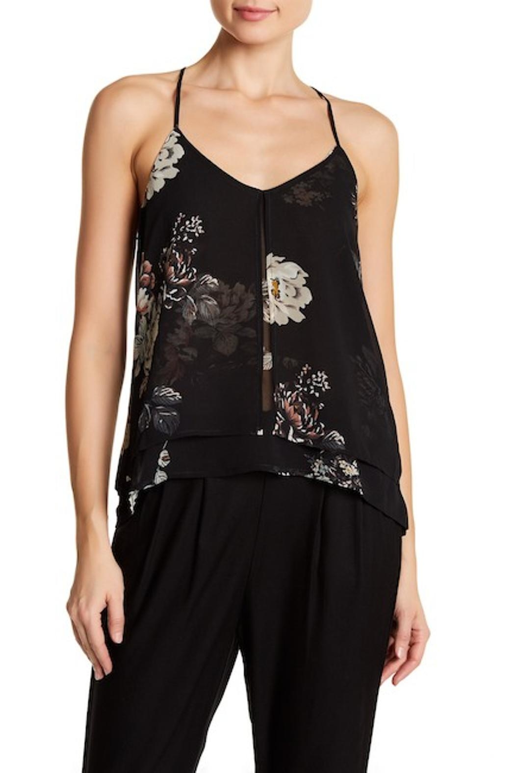 Dex Floral Print Cami - Front Cropped Image