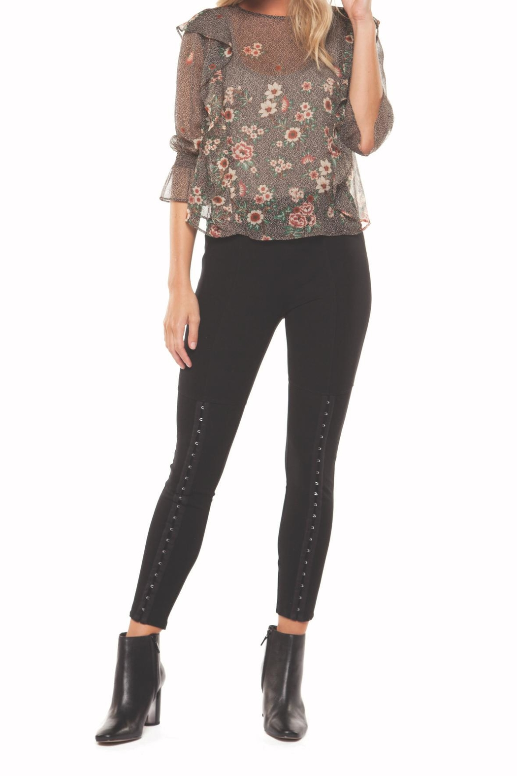 Dex Floral Printed Blouse - Main Image