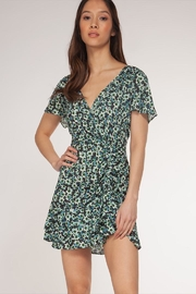 Dex Floral V-Neck Dress - Product Mini Image