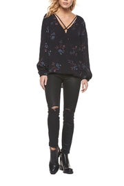 Dex Floral Wrap Blouse - Front cropped