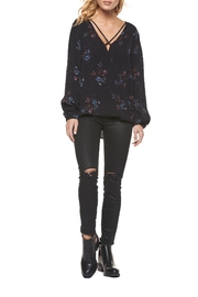 Dex Flowers Surplice Top - Front cropped