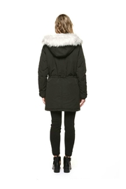 Dex Furry Hooded Parka - Front full body