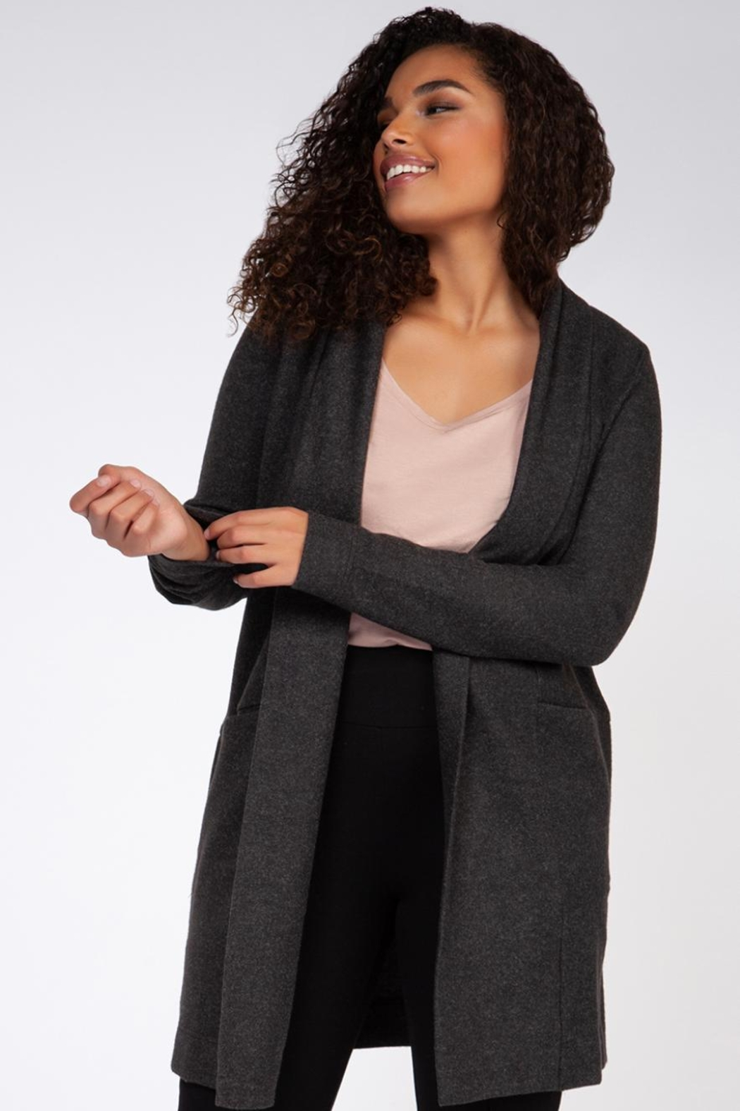 Dex Gray Cardigan - Main Image
