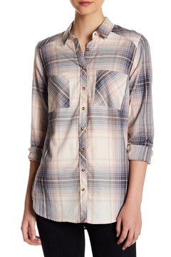 Shoptiques Product: High Low Plaid Top