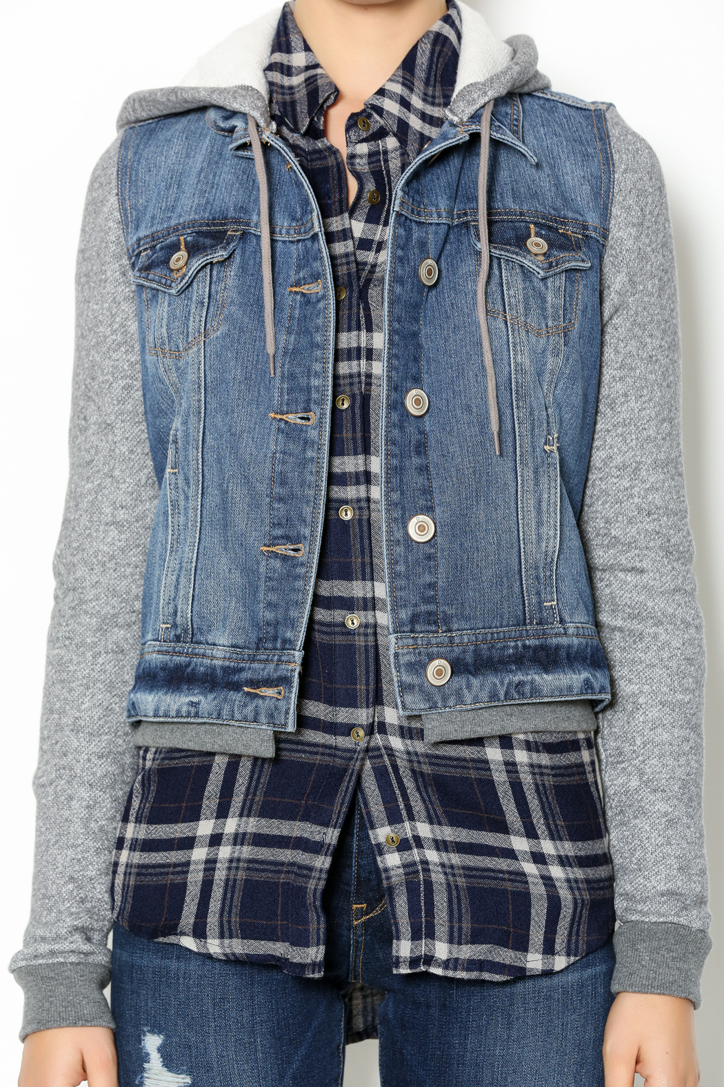 Dex Hooded Denim Jacket from Texas by The Closet Monster — Shoptiques
