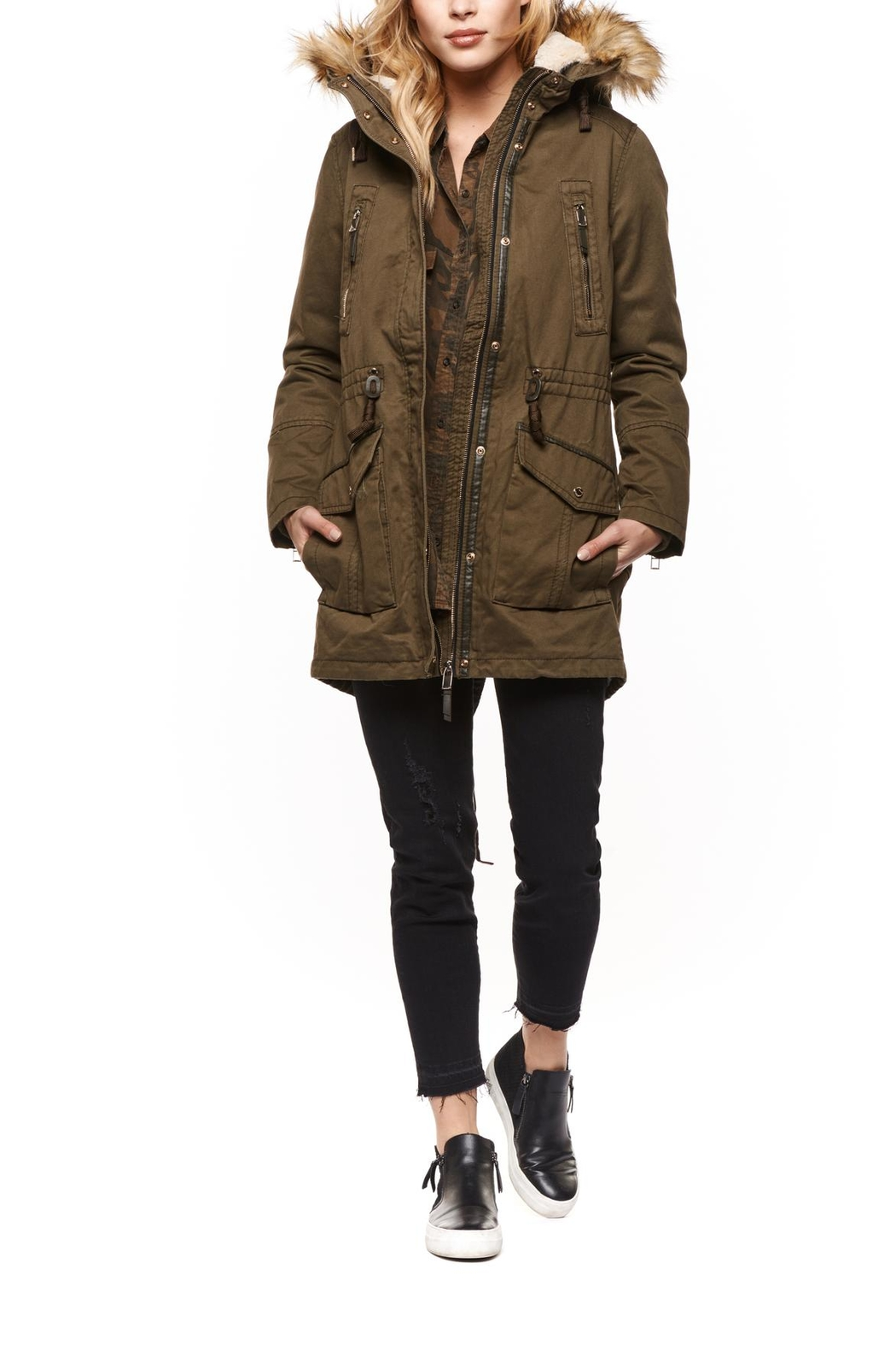Dex Hooded Parka Coat - Main Image