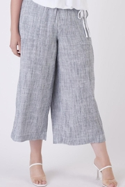 Dex Indigo Flowy Trousers - Front full body