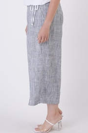 Dex Indigo Flowy Trousers - Side cropped
