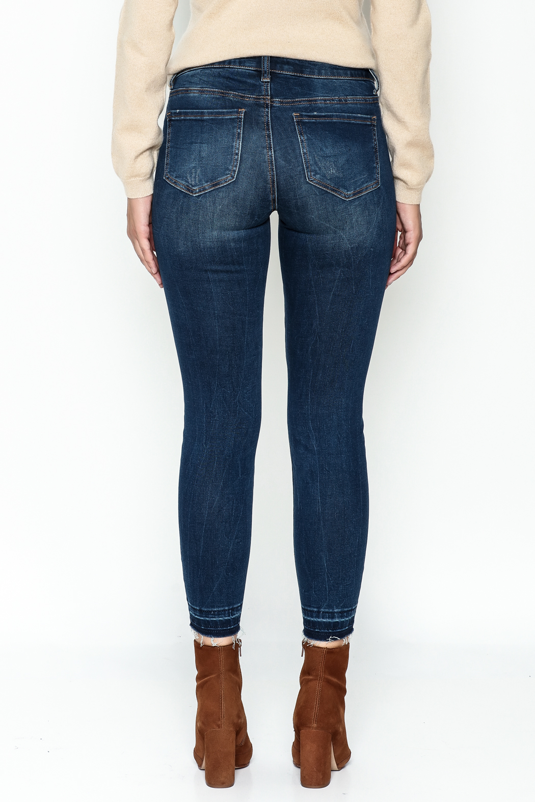 DEX Jeans Madison Distressed Cropped Jeans - Back Cropped Image