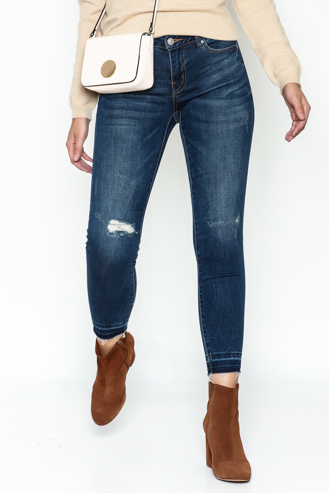 DEX Jeans Madison Distressed Cropped Jeans - Main Image
