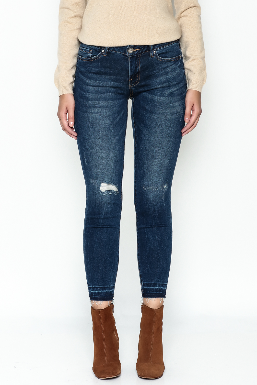 DEX Jeans Madison Distressed Cropped Jeans - Side Cropped Image