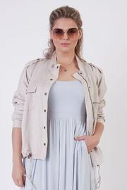 Dex Khaki Lightweight Jacket - Front cropped
