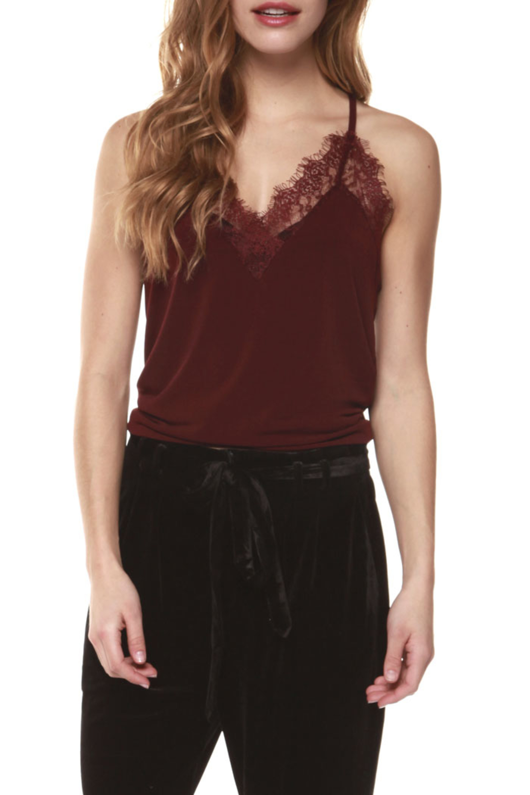 Dex Lace Cami - Front Cropped Image