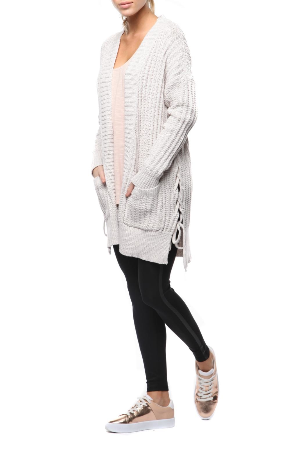 Dex Lace Up Cardigan - Main Image
