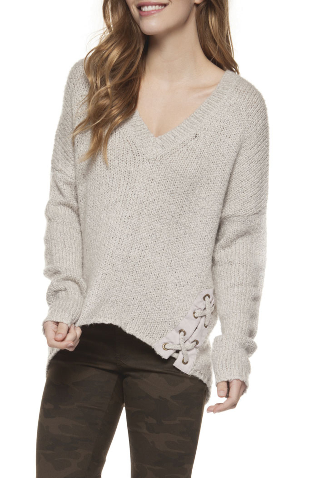 fdbd2197bb Dex Lace Up Eyelet Sweater from New York City by FOR INTERNAL USE ...