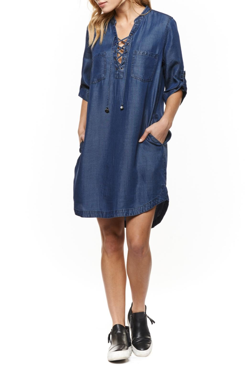 Dex Lace Up Tunic Top - Main Image
