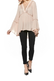 Dex Lace Up Swing Blouse - Product Mini Image