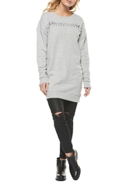 Dex Lace Up Tunic Sweatshirt - Product Mini Image