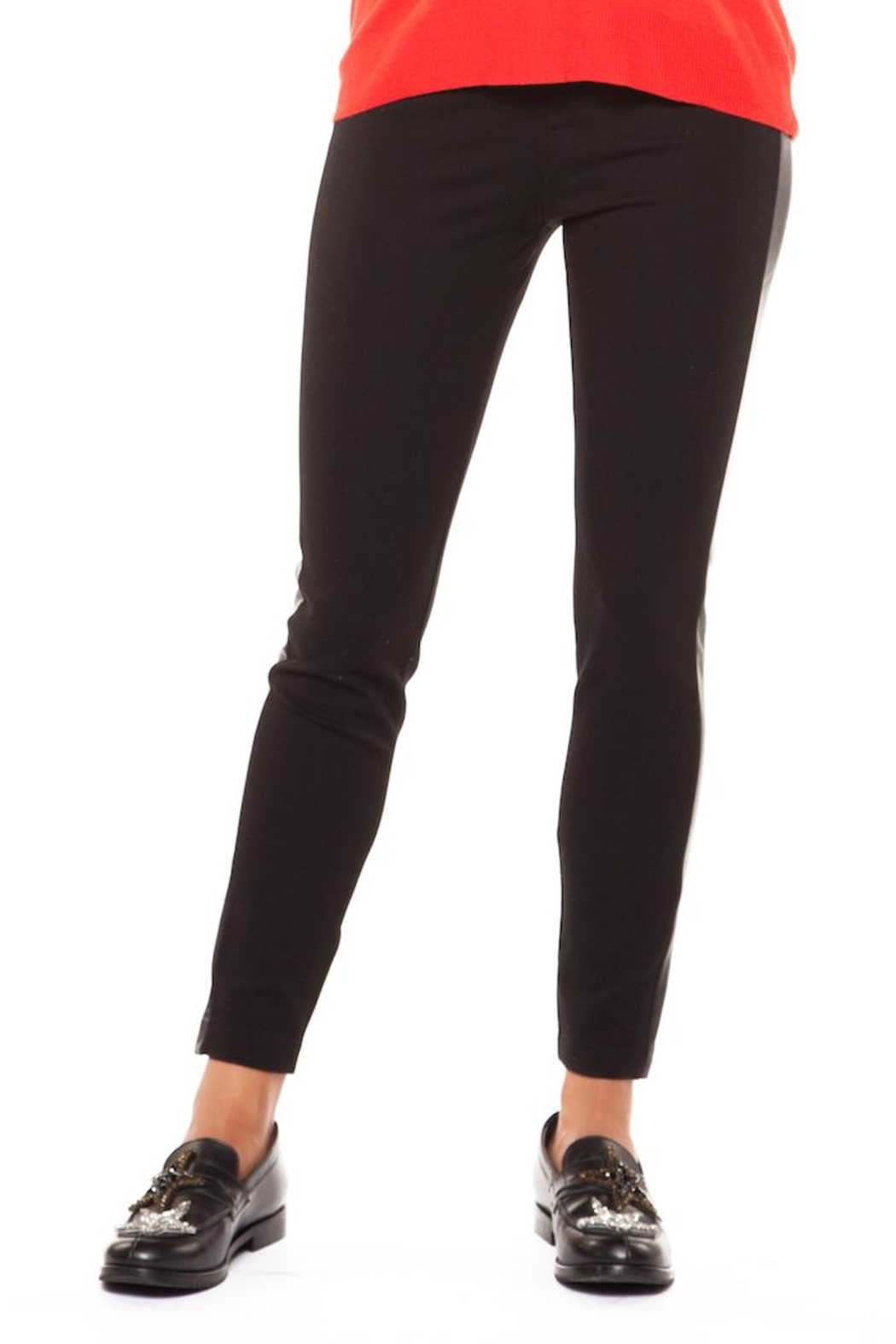Dex Leather Side Pant - Front Cropped Image