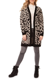 Dex Leopard Open Cardigan - Product Mini Image