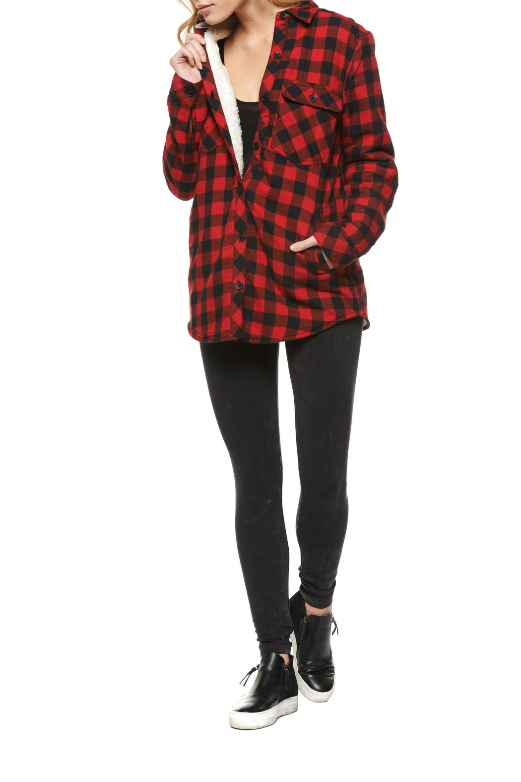 Dex Lined Plaid Overpiece - Main Image