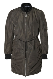 Dex Long Bomber Jacket - Front cropped