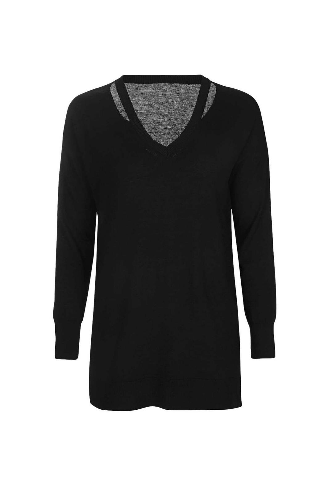 Dex Cut Out Neck Sweater - Main Image