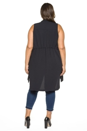 Dex Long Vest - Front full body