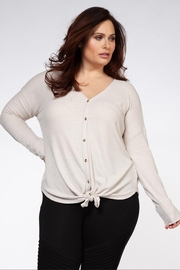 Dex Marled Button Top - Product Mini Image