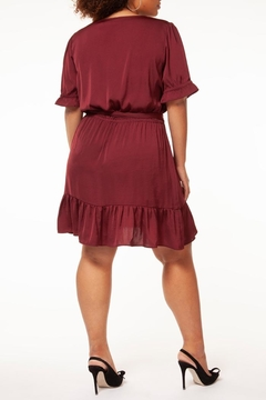 Dex Maroon Ruffle Dress - Alternate List Image