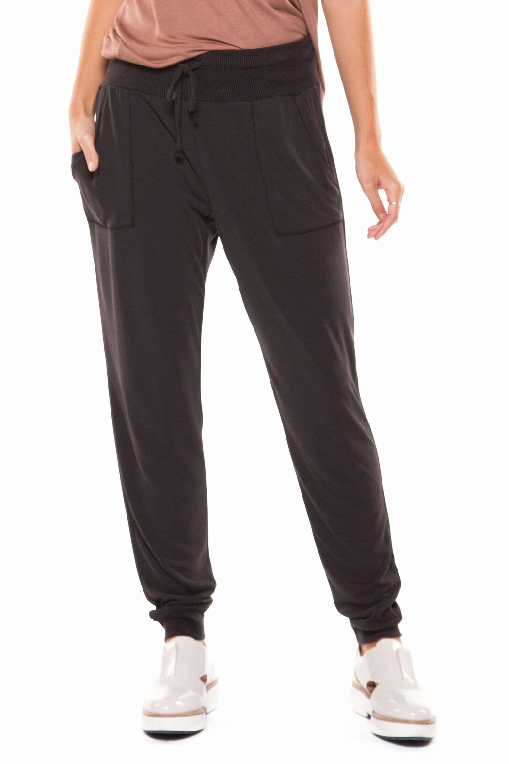 Dex Cupro Jogger Pant - Front Cropped Image