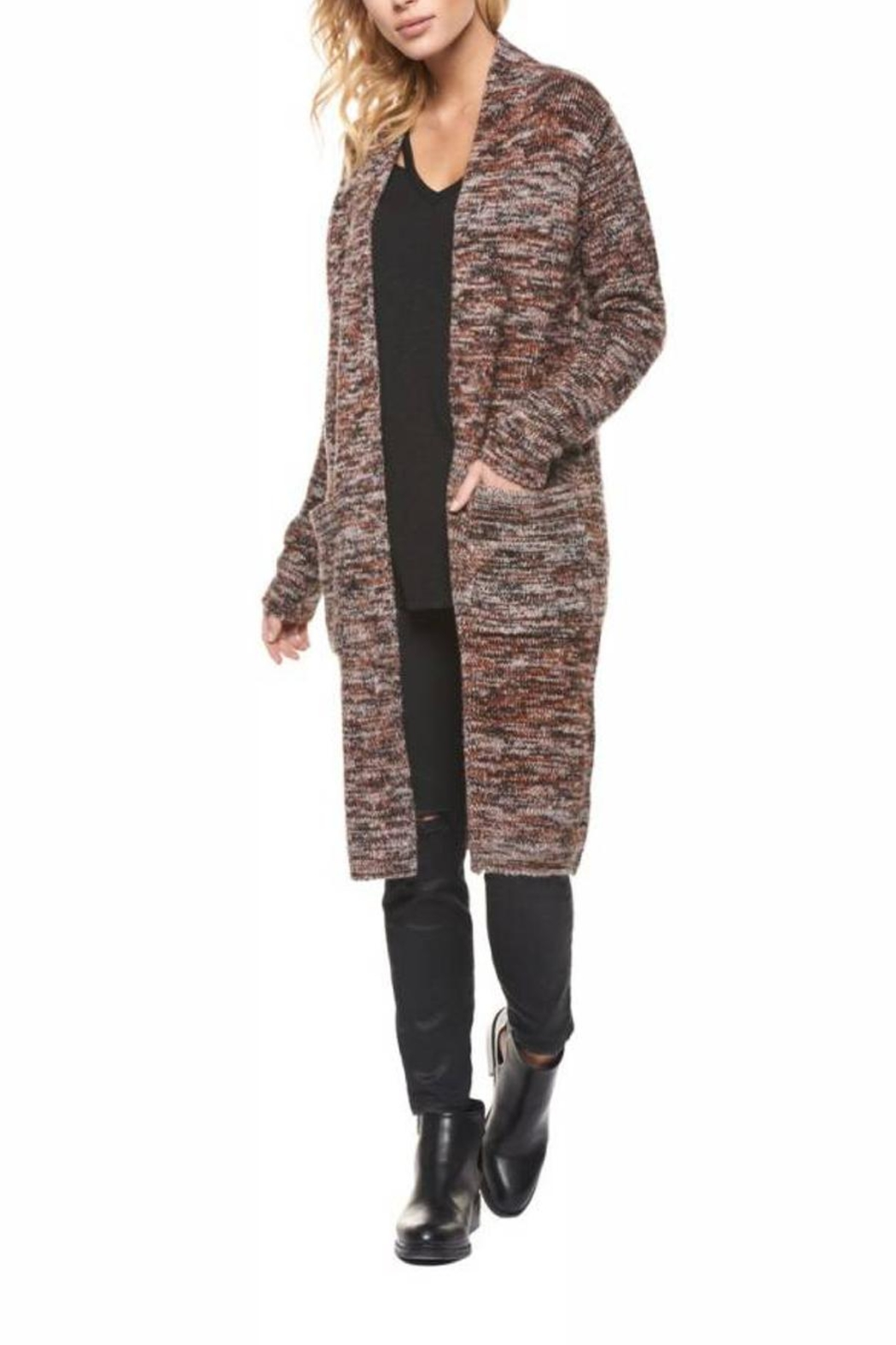 Dex Multicolor Long Cardigan - Main Image