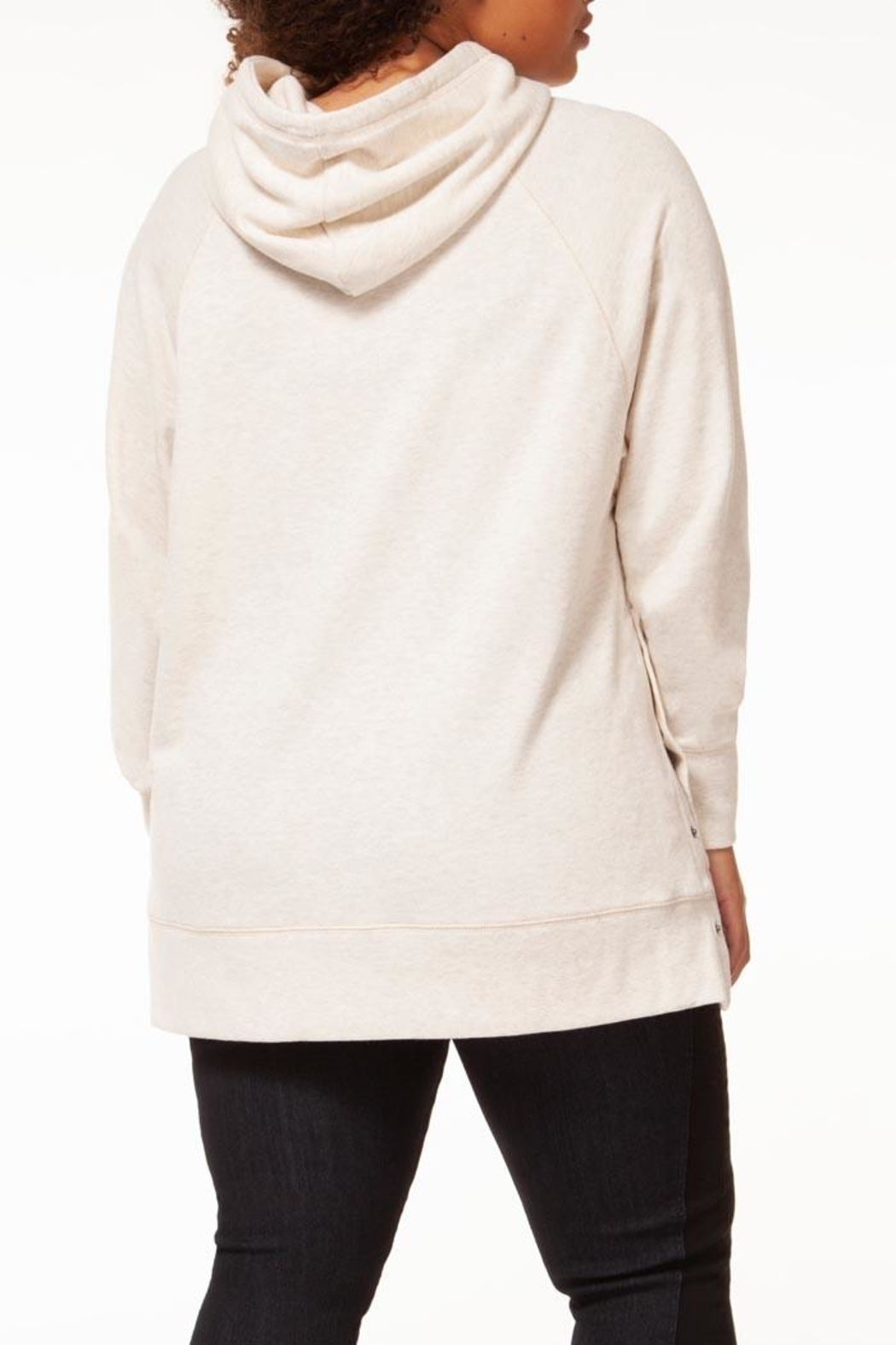 Dex Oatmeal Tunic Hoodie - Side Cropped Image