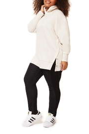 Dex Oatmeal Tunic Hoodie - Front full body