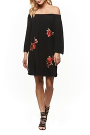 Dex Off-The-Shoulder Embroidered Dress - Product Mini Image