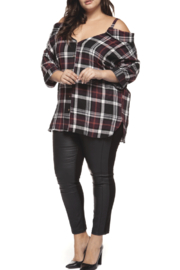 Dex Off the Shoulder Flannel - Product Mini Image