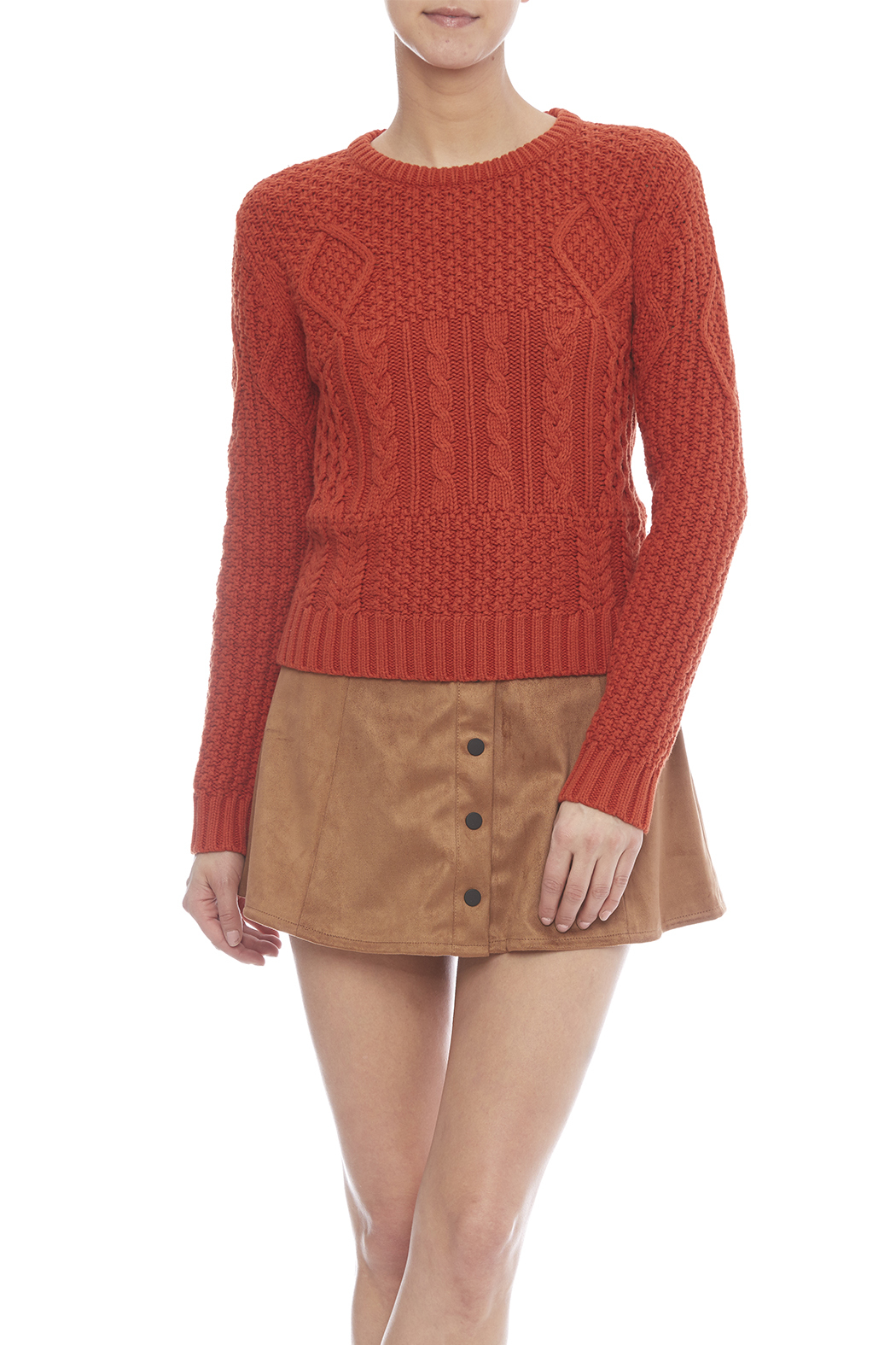 446229f893b Dex Orange Cable Knit Sweater from Manhattan by Marissa's Closet ...