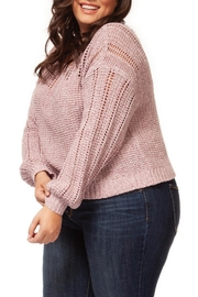 Dex Pink Melange Sweater - Front full body