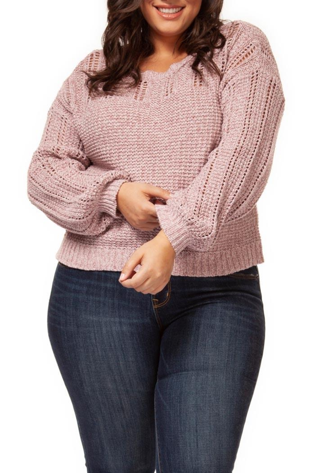 Dex Pink Melange Sweater - Main Image
