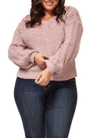 Dex Pink Melange Sweater - Product Mini Image