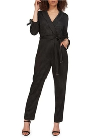 Dex Pinstriped Jumper - Front cropped